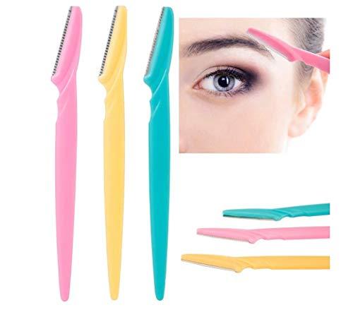 Women's Facial Hair Remove Razor Eyebrow Epilator/Trimmer, 3 Pieces