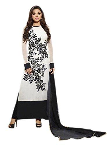 Stutti Fashion Exclusive Beige Color Faux Georgette Semi Stitched Dress Material