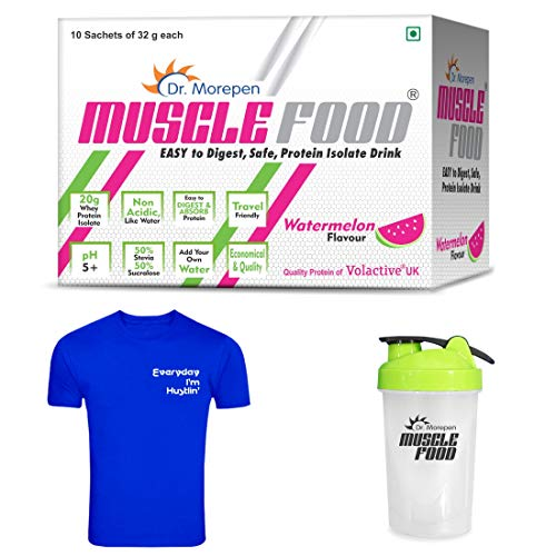 DR. MOREPEN Muscle Food Protein Powder, Whey Protein Isolate Watermelon Flavour (10...