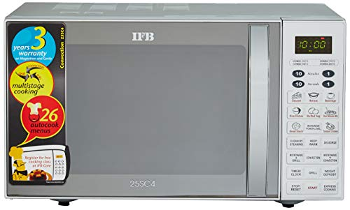 IFB 23 L Convection Microwave Oven(23SC3, Silver)