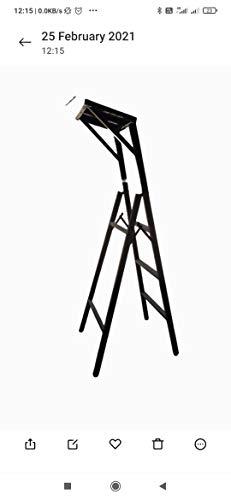 Qutbi Steel Iron Folding Stepladder 5 feet (Brown)