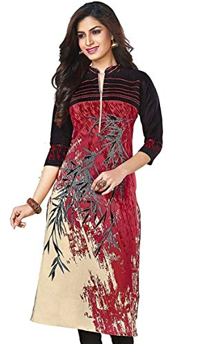 Pink Colour Printed Poly Cotton Unstitched Dress Material